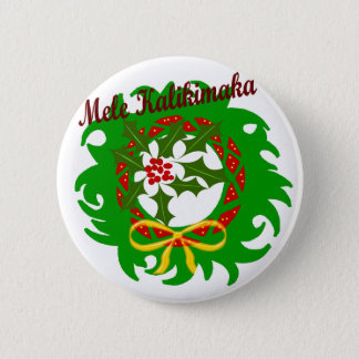 Mele Kalikimaka wreath button