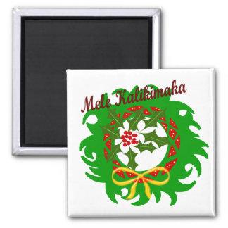Mele Kalikimaka wreath magnet