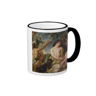 Meleager and Atalanta (oil on canvas) Ringer Mug