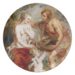 Meleager and Atalante Peter Paul Rubens painting Dinner Plate