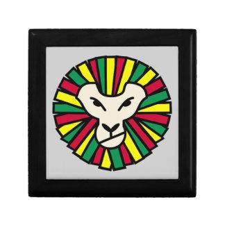 Melena coloreada Rastafari del león Cajas De Recuerdo