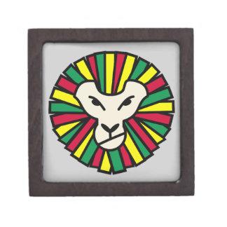 Melena coloreada Rastafari del león Cajas De Regalo De Calidad