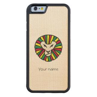 Melena coloreada Rastafari del león del reggae Funda De iPhone 6 Bumper Arce