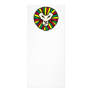 Melena coloreada Rastafari del león Tarjetas Publicitarias A Todo Color