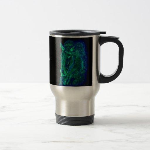 Melena de neón taza de café