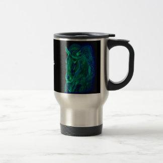 Melena de neón taza térmica