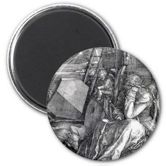 Melencholia I 2 Inch Round Magnet