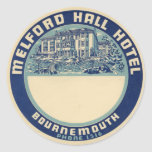Melford Hall Hotel Classic Round Sticker