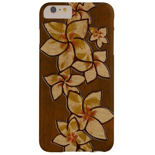 Melia Hawaiian Plumeria Faux Wood Barely There iPhone 6 Plus Case