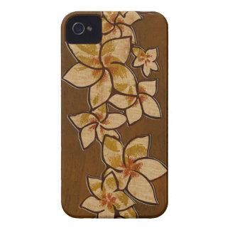 Melia Hawaiian Plumeria Faux Wood iPhone 4 Case