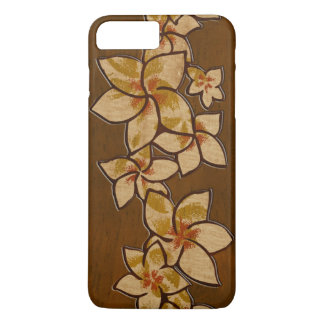 Melia Hawaiian Plumeria Faux Wood iPhone 8 Plus/7 Plus Case