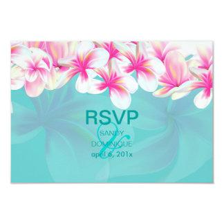 """Melia tropical/rosado del rsvp de PixDezines Invitación 3.5"""" X 5"""""""