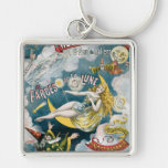 Melies ~ French Magician Vintage Magic Act Keychains