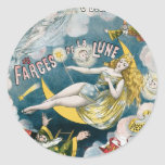 Melies ~ French Magician Vintage Magic Act Classic Round Sticker