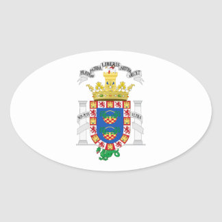 Melilla (Spain) Coat of Arms Oval Sticker