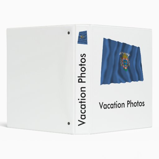 Melilla waving flag vinyl binder
