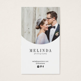Melinda gold foil business card