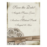Melinda Vintage Lace Save the Date Personalized Invitations
