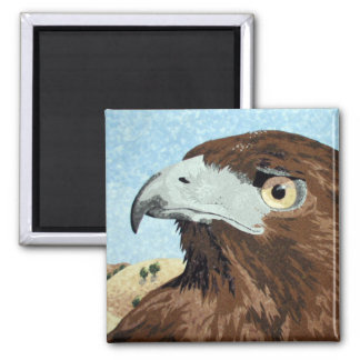 Melinistic Red-tail textile 2 Inch Square Magnet