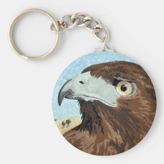 Melinistic Red-tail- textile Keychain