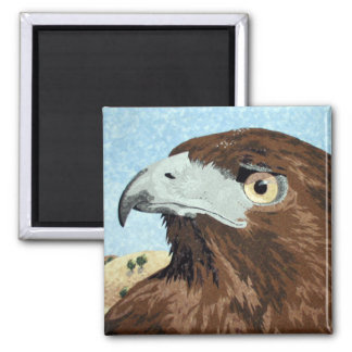 Melinistic Red-tail- textile Magnet