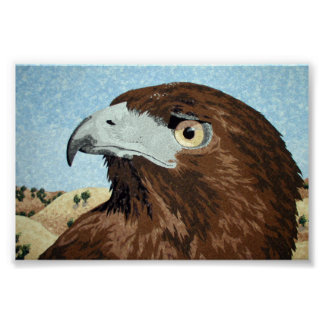Melinistic Red-tail-textile Posters