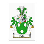 Melis Family Crest Gallery Wrap Canvas