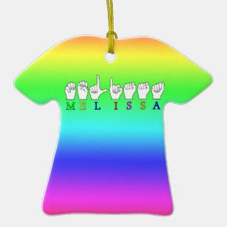 MELISSA  ASL FINGERSPELLED SIGN NAME CHRISTMAS TREE ORNAMENTS