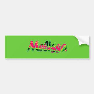 Melissa bumper sticker