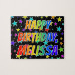 "[ Thumbnail: ""Melissa"" First Name, Fun ""Happy Birthday"" Jigsaw Puzzle ]"