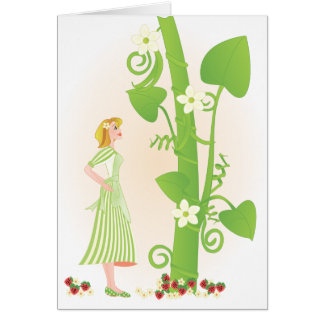 Melissa in the Beanstalk Stationery Note Card