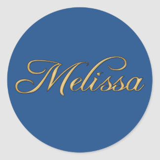 MELISSA Name Branded Gift Item Classic Round Sticker