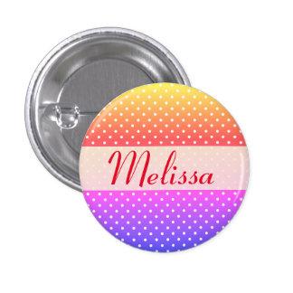 Melissa name plate Anstecker Button