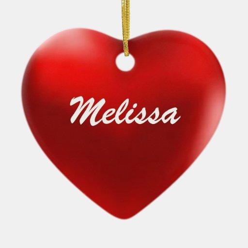 Melissa Ornament Heart