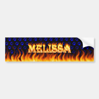 Melissa real fire and flames bumper sticker design