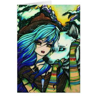 Melissa Vampire Wolf Fantasy Winter Art Card