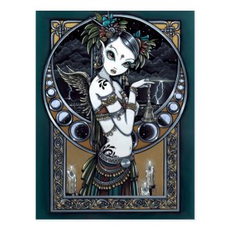 'Melita' Goth Tribal Fusion Dancer Angel Postcard