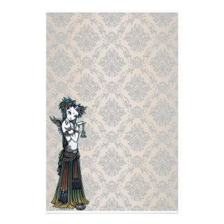 """Melita"" Goth Tribal Fusion Dancer Art Stationery"