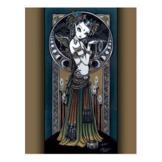 Melita Goth Tribal Fusion Storm Angel Postcard