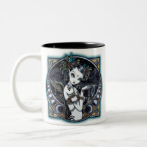 tribal, fusion, coffee, mug, fairy, belly, dancer, angel, thunder, storm, lightning, city, scape, candels, singing, bowl, dance, gothic, henna, tattoo, jewerly, goddess, faery, fae, faerie, fairies, fantasy, melita, myka, jelina, art, middle eastern, Mug with custom graphic design