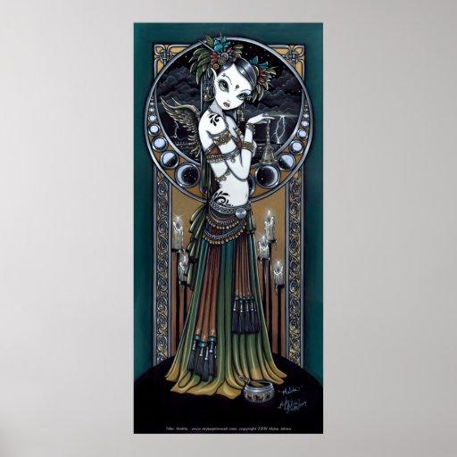 """Melita"" Gothic Tribal Fusion Dancer Art Poster"