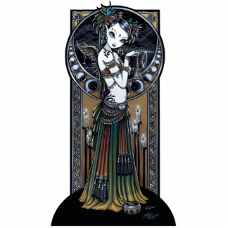 """Melita"" Gothic Tribal Fusion Dancer Art Statuette"