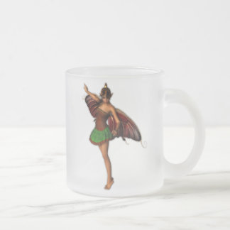 Mellandra Fairy 10 Oz Frosted Glass Coffee Mug