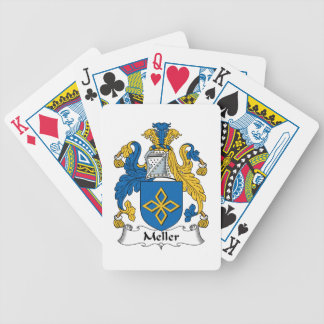 Meller Family Crest Bicycle Poker Cards