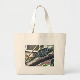 Meller's Chameleon - Chamaeleo melleri Jumbo Tote Bag