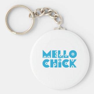 Mello Chick Basic Round Button Keychain