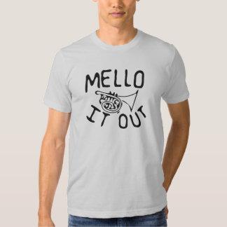 Mello él hacia fuera camisa del mellophone del
