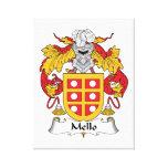 Mello Family Crest Canvas Print