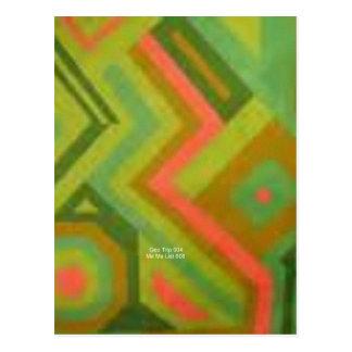 Mellon abstracto (viaje de Geo) Postal