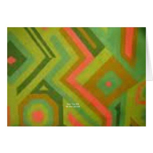 Mellon abstracto (viaje de Geo) Tarjeta De Felicitación